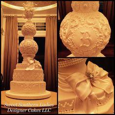 Elegant wedding spherical cake