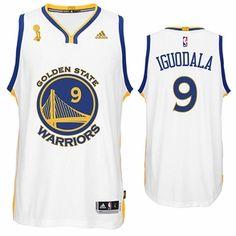 125876d3edd Golden State Warriors adidas Andre Iguodala Trophy Ring Banner Swingman  Jersey - White Durant Nba