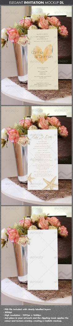 Elegant Wedding or Engagement Invitation Mockup - Miscellaneous Print