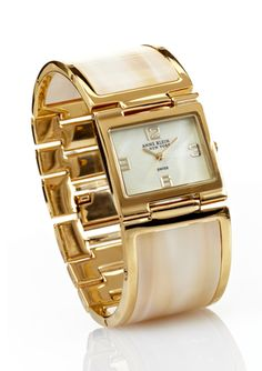ANNE KLEIN NEW YORK Ladies Shell Bangle Watch