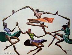 Ernie Barnes - I love the elongated style...
