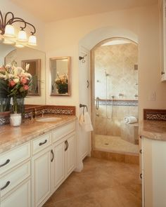 archway to roman shower, I like the placement of the towel rack/hook