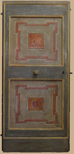 Reproductions of antique italian painted doors - Porte del Passato Italian Doors, Painted Doors, Miniature Dolls, Painted Furniture, Craftsman, Beautiful Homes, Shabby Chic, Antiques, Painting