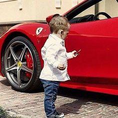 #LapoElkann Lapo Elkann: We start Them Young . #italiansdoitbetter #❤️italia #ferraridoesitbetter