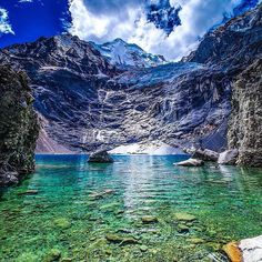 """Location: Lago Santa Rosa (Below Sarapo and Siula Grande) - Cordillera Huayhuash, Peru. Photo Credit: @ehodgesphoto"""