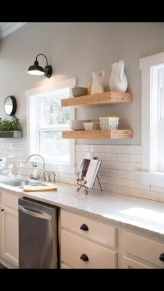 Love a white kitchen! Beautiful home, love the rustic elegance!