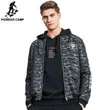 Pioneer camp 2017 nueva primavera hombres de la chaqueta de marca clothing ajk703007 chaqueta de bombardero chaqueta militar de camuflaje de la moda masculina(China (Mainland))