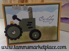 Happy Birthday Tractor Card MKC024