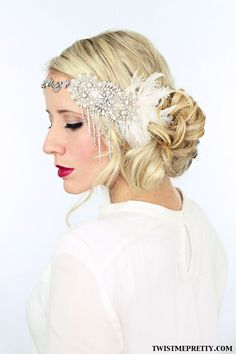 Hairstyle for Halloween - Flapper hair style