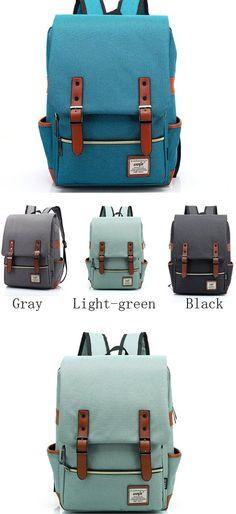Vintage Canvas Travel Backpack