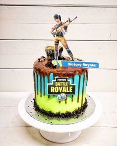 more valuable products (fortnite gifts,fortnite tshirt) by FortniteLife 10th Birthday Parties, Birthday Games, Cool Birthday Cakes, Boy Birthday, Birthday Ideas, Bolo Sofia, Video Game Cakes, Birtday Cake, New Cake