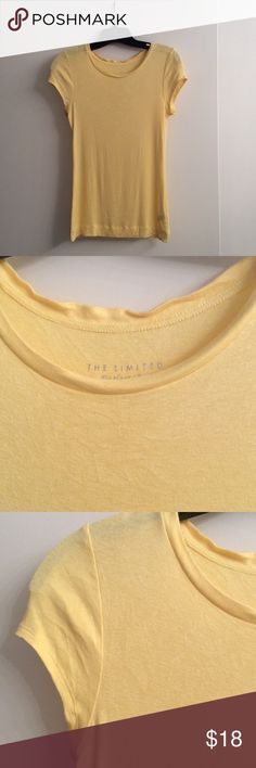 Yellow top from The Limited Cute Yellow tee. Perfect for a casual look with jeans. It has only been used twice. The Limited Tops