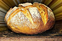 Greek Bread, Bread Without Yeast, Dutch Oven Bread, Bread And Pastries, Greek Recipes, Yummy Recipes, Bread Baking, Pain, Food To Make