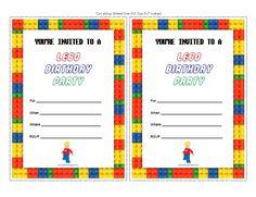 Free Printable Lego Birthday Party Invitations