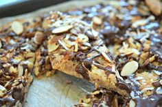 Almond Joy Cookie Brittle { Gluten Free } - Powered by @ultimaterecipe