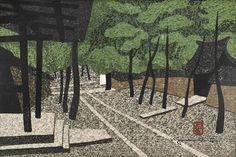 TWO WOODBLOCK PRINTS BY KIYOSHI SAITO : Lot 490