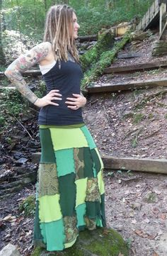 RESERVED Patchwork Skirt Hippie Skirt Long Skirt by GypsySewL, $85.00