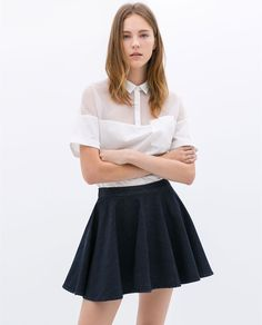 Image 3 of DENIM MINISKIRT from Zara