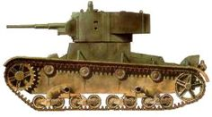The T-26 was a license-build version of the British Vickers 6-Ton, which also inspired the Polish 7TP and the US Light Tank, M2.