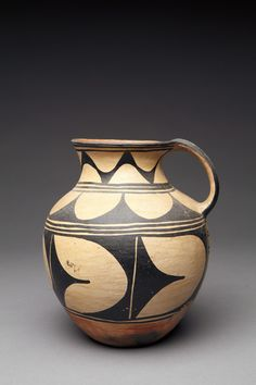 """The Leaning Pitcher"": Gorgeous Kewa Tall Pitcher, Attributed to Felipita Aguilar Garcia, c. 1920"