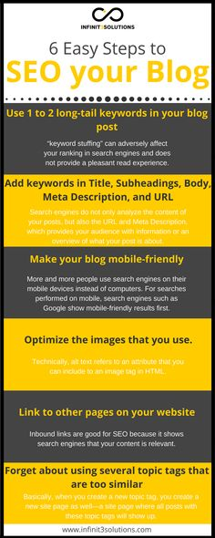 Easy Steps to Search Engine Optimize (SEO) your Blog Search Engine, Seo, Engineering, Marketing, Easy, Technology