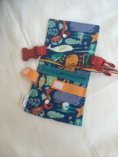 Ocean Busy blanket - a buckle, snap, zip, Velcro, and button toy - fine motor…