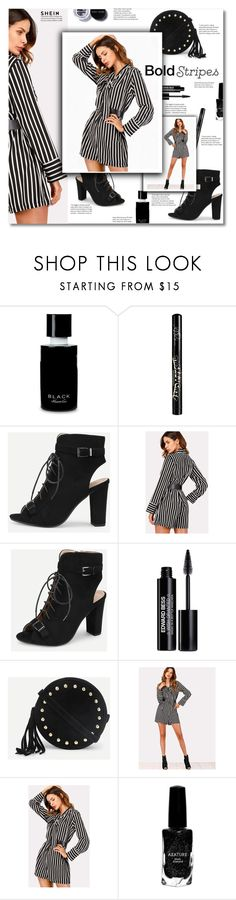 """""""Bold stripes...."""" by smajlovicelvira ❤ liked on Polyvore featuring Kenneth Cole, Kat Von D, Edward Bess, Azature and Bobbi Brown Cosmetics"""
