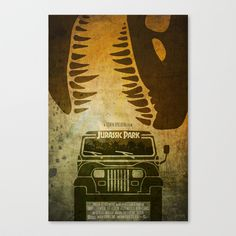 Jurassic+Park+Minimalist+Poster+Canvas+Print+by+Ed+Burczyk+-+$85.00