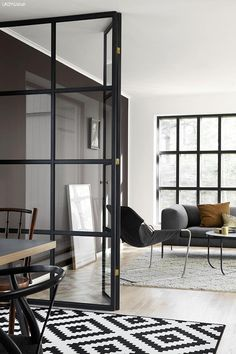 40 Chic Glass Partition Design Ideas For Your Living Room