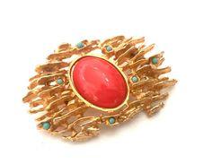 Hattie Carnegie Multi-Color Brutalist Brooch, #jewelry #brooch @EtsyMktgTool http://etsy.me/2mX6jI1