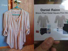 Daniel Rainn Bilson Pleat Detail Square Print Blouse--I like this color and print