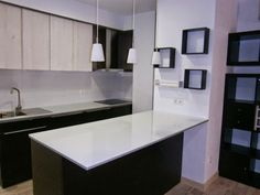 Glass top kitchen peninsula - IKEA Hackers