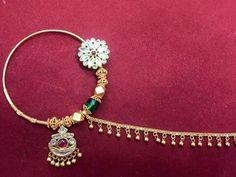 nath (nasenring) - For Diy Jewelry Nath Nose Ring, Nose Ring Jewelry, Bridal Nose Ring, Nath Bridal, Nose Stud, Gold Earrings Designs, Gold Drop Earrings, Amrapali Jewellery, Gold Jewellery