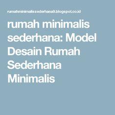 rumah minimalis sederhana: Model Desain Rumah Sederhana Minimalis