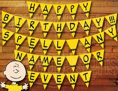 Printable Charlie Brown Shirt Banner / Bunting / by CEVADesigns