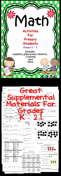 This classroom activity book is great for the primary math class! Includes many activities for students to practice their math skills. #commoncore #math