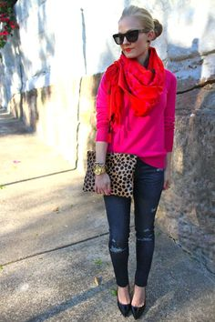 Birdie #colorblock #animalprint