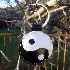 Yin-Yang Leather Keychain FREE Shipping  Yin Yang symbol by snis