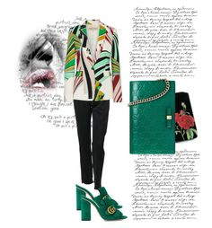 """""""Untitled #1194"""" by rhaxkido ❤ liked on Polyvore featuring Vetements, Gucci, Emilio Pucci and gucci"""