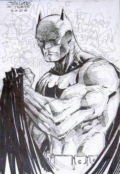 Batman Jim Lee, in Edoardo Cavani's My Collection Comic Art Gallery Room - 1280054 Dc Comic Books, Comic Book Artists, Comic Artist, Jim Lee Batman, I Am Batman, Batman Drawing, Batman Artwork, Motto, Jim Lee Art