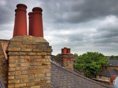 Chimeneas (Chimneys) - West London, Londres, Reino Unido (West London, London, UK) - iPhone 4S & HDR Pro Copyright © Juan Hernandez Orea