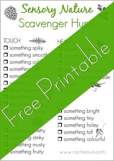 Sensory Nature Scavenger Hunt | Free Printable! - Racheous - Lovable Learning