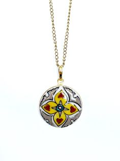 Hearts on Fire Pendant - Flat Fire Heart, Beautiful Things, Hearts, Pendants, Hand Painted, Pendant Necklace, Jewellery, Flat, Chain