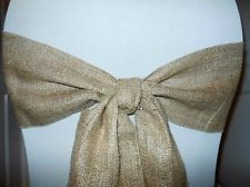 Exquisite Rustic Wedding Chair Bow Sashes  by CowDogDesign on Etsy