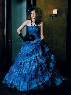 Wedding Dress Fantasy - Blue Wedding Dress - Available in Every Color 24, $999.00 (http://www.weddingdressfantasy.com/blue-wedding-dress-available-in-every-color-24/)