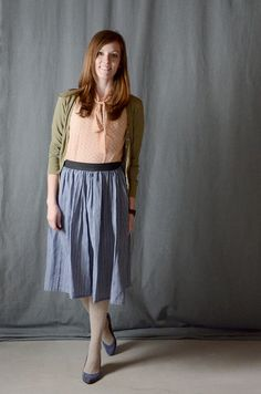TUTORIAL: Flat Gathered Elastic Skirt