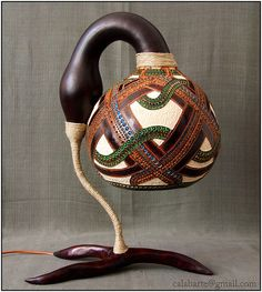 Gourd Table Lamp!  Oh my!