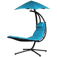 Hanging Chaise Lounge Chair Outdoor Patio Porch Swing Hammock Canopy Turquoise for sale online Patio Swing, Hammock Swing, Hammock Chair, Swinging Chair, Hammocks, Garden Swings, Hanging Hammock, Porch Swings, Patio Chair Cushions