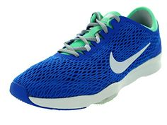 the latest d660a d67e4 Nike Womens Zoom Fit SoarWhiteGreen GlowWLF Grey Running Shoe 85 Women US      Check this awesome product by going to the link at the image.