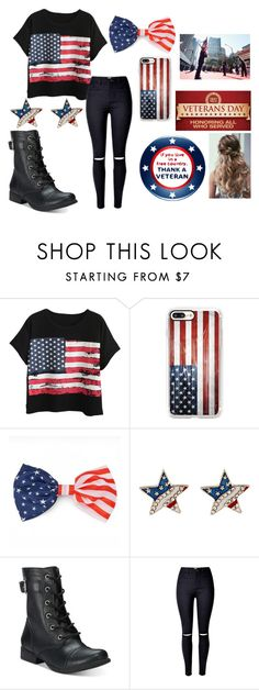 """""""veterans day"""" by mylifeasmaddy25 on Polyvore featuring Chicnova Fashion, Casetify and American Rag Cie"""